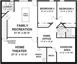 House Plan at FamilyHomePlans comRanch House Plan Lower Level