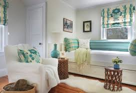 view in gallery lovely combination of aqua and white in the living room beach style living room