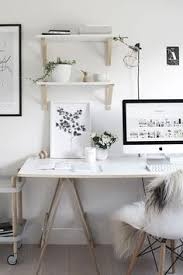 to really create a white home office you are going to need to take out any colored items that are in the room this doesnt mean you cant have some bury style office desk desks