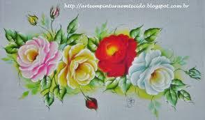 Resultado de imagem para pinturas em tecidos rosas passo a passo