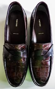 NIB $12540 TOM FORD <b>Alligator Crocodile</b> Leather Shoes Loafers ...