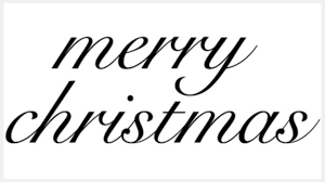 Collection of <b>Merry</b> Cursive Cliparts (45)