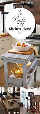 rustic kitchen island:  ideas about rustic kitchen island on pinterest rustic kitchens kitchen islands and diy kitchen island