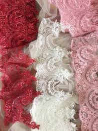 Off white <b>red</b> rose <b>venice</b> embroidery lace applique pair in morror ...