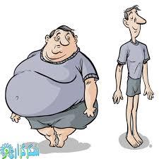 نتیجه تصویری برای عکس چاقی و لاغری