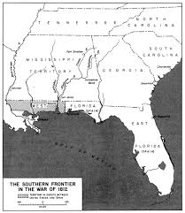 war of  map 17 the southern frontier in the war of 1812