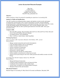 good accountant resume example writing resume sample accountant resume middot junior accountant by mary jane