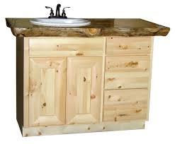 design knotty pine bathroom vanity unfinished