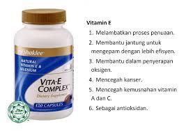 Image result for vitamin e shaklee bantu kesuburan