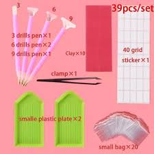 38pcs/set <b>Diamond Painting Tool</b> pen Full Kits Diamond Embroidery ...