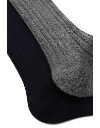 <b>Black and Gray</b> cashmere sock 2-pack | Canali.com