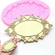 3D <b>Mirror</b> Silicone <b>Fondant Cake</b> Mold Chocolate Baking Mould ...