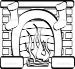 Огонь в камине раскраска