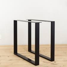 quot steel tube table legs custom  steel u shape table legs powder coated black