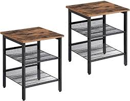 VASAGLE Nightstand, Set of 2 Side Tables, End ... - Amazon.com
