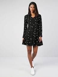 Черное <b>Платье</b>-<b>Рубашка С Длинными Рукавами</b> - New year ...