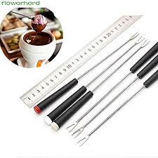 24cm Stainless Steel Chocolate Fork Hot Pot Forks ... - Amazon.com