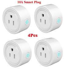 10A Wifi Outlet Smart Socket Smart plug Smart Life APP Control ...