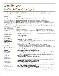 jennifer lowe resume medical billing resume career medical use this as a sample resume medical billing