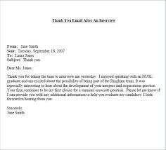 Sample Interview Thank You Email - 5+ Examples, Format Thank You Letter After Interview