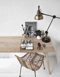 love this minimalist white workspace with pale wood desk and cane chair beautiful space to work from home in beautiful home office delight work