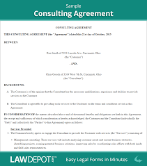 consulting contract consulting agreement template us related documents