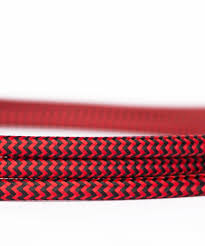 braided burgundy red and black fabric cable black fabric lighting