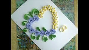 Paper <b>Wedding Cards</b>: make paper Quilling <b>Wedding Card</b> with <b>heart</b>.