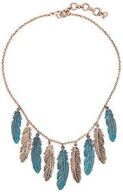 Scrox <b>1Pcs</b> Necklace Lovely Crystal Vintage Feather Tassel Design ...