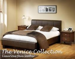 the venice bedroom collection is finished in the ever popular chocolate brown faux leather which complements a variety of colour schemes and will certainly brown leather bedroom furniture