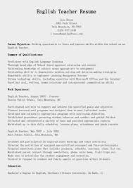 resumes samples  esl resumes sample resume esl teacher resume objective sles for teacher resume examples 2013 teacher resume
