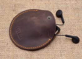 Headphone <b>leather</b> case Mini Pouch Bag Earbuds pouch <b>Leather</b> ...