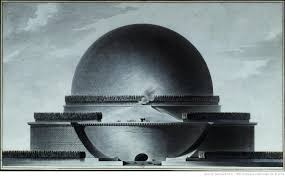 ad classics cenotaph for newton etienne louis boullée archdaily exterior elevation