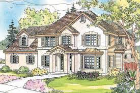 Sunny European Gerabaldi House Plan Has Room for a Large Family    European House Plan  Home Plan  Gerabaldi