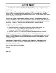 best operations manager cover letter examples   livecareeroperations manager cover letterprofessional  design