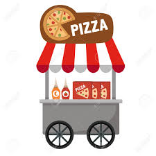 bake stock vector illustration and royalty bake bake cart stall and pizza vector illustration on white background