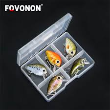 FOVONON Fishing Lure 3cm 1.8g Crankbaits <b>5pcs</b>/lot Hard Pesca ...