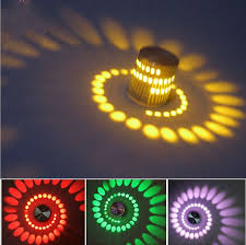led circular spiral wall light lamp background light effects indoor wall led lamp dining room hallway cheap lighting effects
