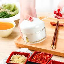New Portable Manual Food Grinder Vegetable <b>Garlic Chopper</b> Meat ...