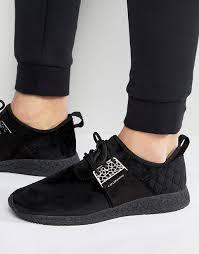 <b>Cayler & Sons</b> | Черные кроссовки со стеганой вставкой на ...