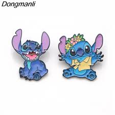 <b>P3402 Dongmanli Stitch Alien</b> Cute Metal Enamel Pins and ...