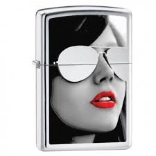 Žiebtuvėliai - <b>Зажигалка ZIPPO</b> 28274 Woman in <b>Sunglasses High</b> ...