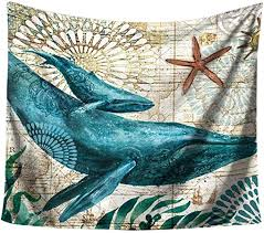 Daaimi Wall Tapestry Ocean <b>Animal Pattern</b> Wall Hanging ...