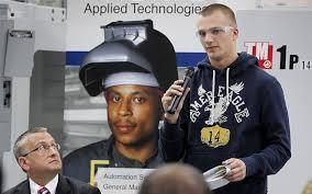 Bradley Servidas  a high school senior who is studying Tool  amp  Die CNC at Milwaukee Journal Sentinel