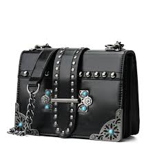 Trendy <b>Women Shoulder Messenger Crossbody</b> Bag--Black