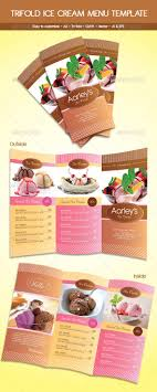 zing ice cream food menu templates designleo trifold ice cream menu template