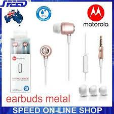 <b>Motorola Earbuds Metal</b> Headphones Earphones with Mic - ROSE ...
