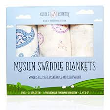 Muslin Swaddle Blankets for Newborn Baby Girls ... - Amazon.com