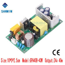 <b>Sanmim ac</b> dc power supply 40W <b>AC220V to</b> DC24V 1.7A switching ...