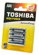 Купить <b>Батарейка AAA TOSHIBA</b> High Power LR03GCP BP-4 по ...